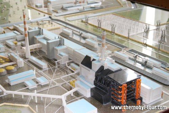 Макет Чернобыльской атомной электростанции