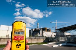 Dosimeter radiation near the Chernobyl nuclear power plant