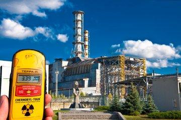 Dosimeter radiation near the Chernobyl nuclear power plant